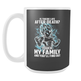 Super Saiyan - Vegeta God Blue protect family - 15oz Coffee Mug - TL00886M5
