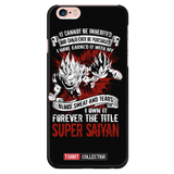 Super Saiyan Goku and Vegeta iPhone 5, 5s, 6, 6s, 6 plus, 6s plus phone case - TL00028PC-BLACK