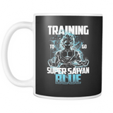 Super Saiyan - Goku Training to go Super Saiyan Blue - Mug 11oz - TL00889M1