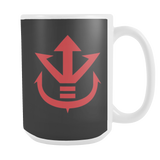 Super Saiyan 15oz Coffee Mug - Red Vegeta Saiyan Crest - TL00013M5