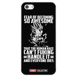 Super Saiyan Majin Vegeta Fear of Becoming so Awsome iPhone 5, 5s, 6, 6s, 6 plus, 6s plus phone case - TL00451PC-BLACK