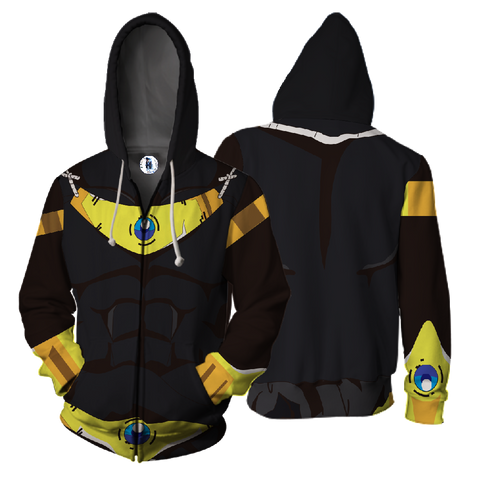 Dragon Ball Broly Legendary  Armor 3D Print Zip Hoodies - TIANDK05