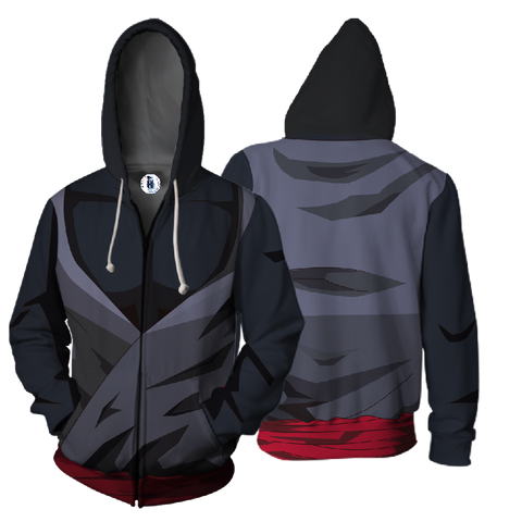 Dragon Ball Super Black Goku  Armor 3D Print Zip Hoodies - TIANDK06
