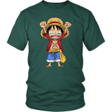 One Piece - Mini Monkey D Luffy -Men Short Sleeve T Shirt - TL001985SS
