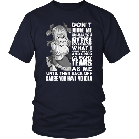 Fairy Tail - Dont Judge me Lucy Heartfilia -Men Short Sleeve T Shirt - TL01933SS