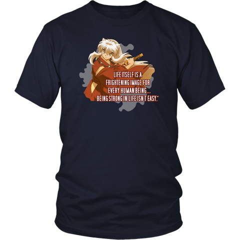 Inuyasha - being strong in life isn't easy - Men Short Sleeve T Shirt - TL01641SS