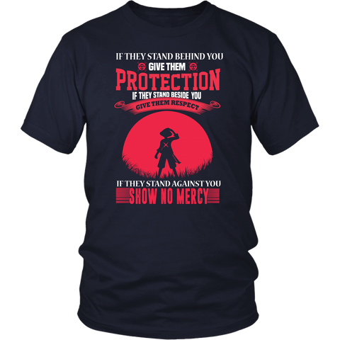 One Piece- If they stand behind you give them protection luffy version-Men Short Sleeve T Shirt - TL01632SS