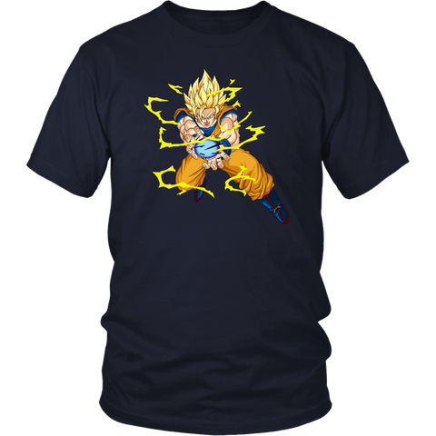 Super Saiyan - Super Saiyan 2 Goku -Men Short Sleeve T Shirt - TL02002SS