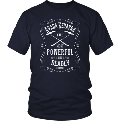 Harry Potter- Avada Kedavra the most powerful and deadly curse -Men Short Sleeve T Shirt - TL01633SS