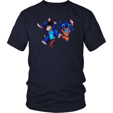 Super Saiyan - Goku and Stitch  -Men Short Sleeve T Shirt - TL01636SS