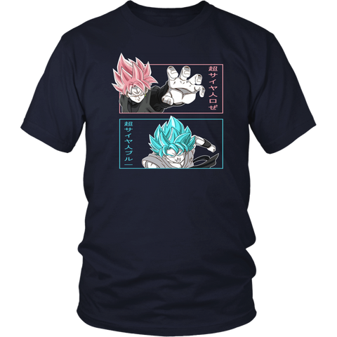 Super Saiyan - Black Goku vs Goku God - Men Short Sleeve T Shirt - TL01658SS