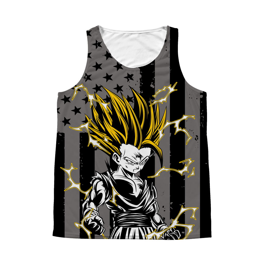 Super Saiyan Gohan 1 Sided 3D tank top t shirt Tank - TL00417AT