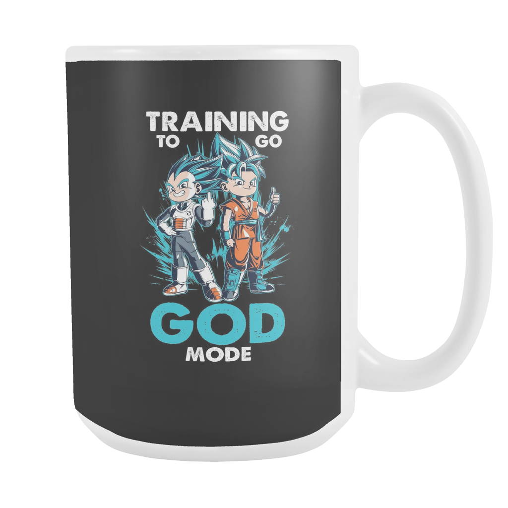 Super Saiyan - Training to go God Mode 15oz Coffee Mug - TL00011M5