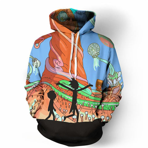 Rick And Morty 3D Print Sweatshirts Pullover Hoodies