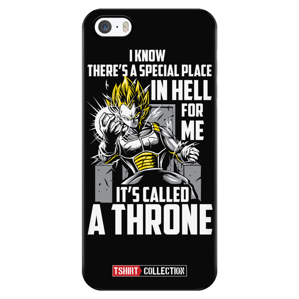 Super Saiyan Vegeta stay on throne iPhone 5, 5s, 6, 6s, 6 plus, 6s plus phone case - TL00229PC-BLACK