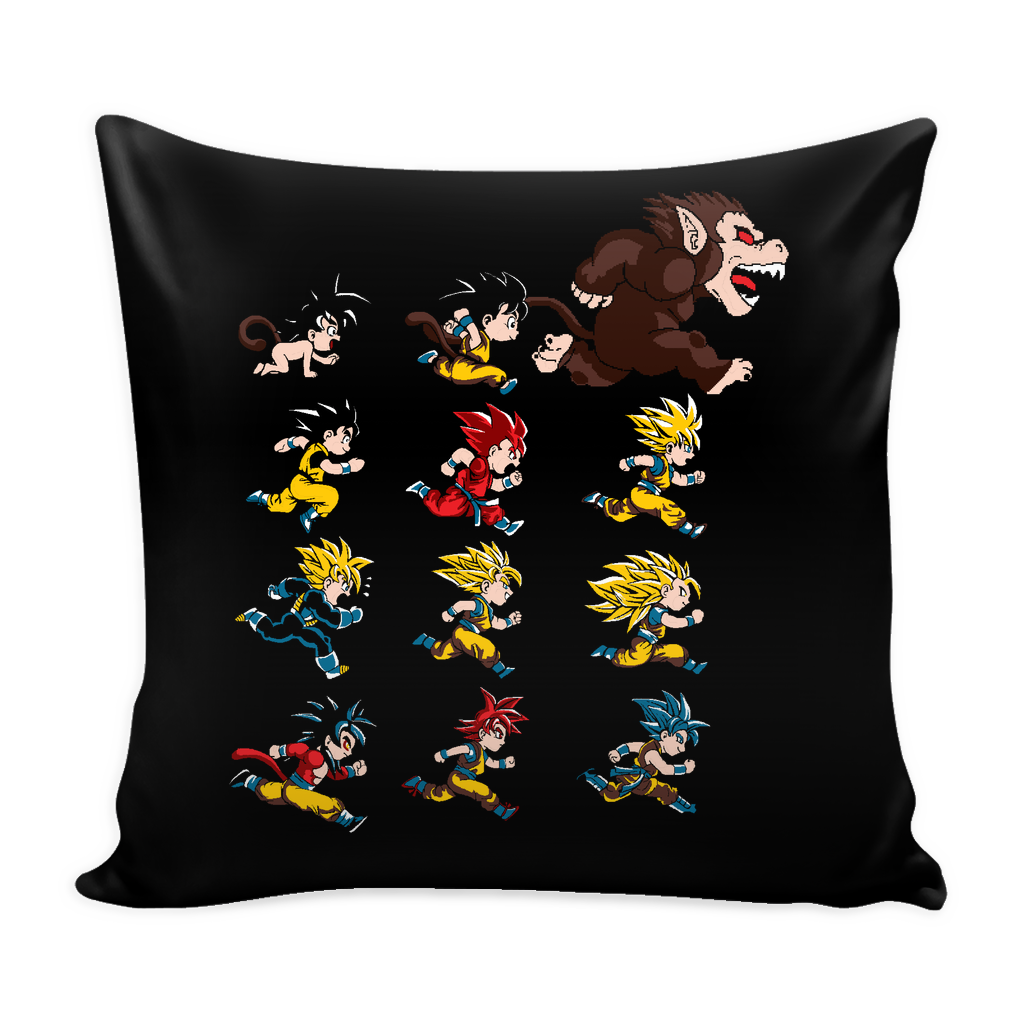"Super Saiyan - The Evolutions of Goku Pillow Cover 16"" - TL00041PL"