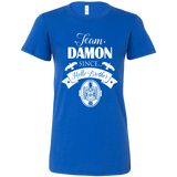 The Vampire Diaries Shirt - Team Damon since hello brother -Women Short Sleeve T Shirt  - TL01791WS