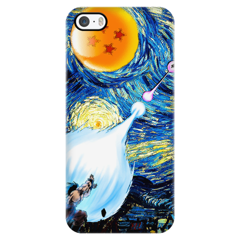 Super Saiyan - Goku Kamehameha vs Vegeta Galick gun Van Gogh style - Iphone Phone Case - TL00822PC