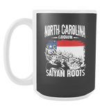 Super Saiyan North Carolina Grown Saiyan Roots 15oz Coffee Mug - FOR NORTH CAROLINA FANS - TL00149M5