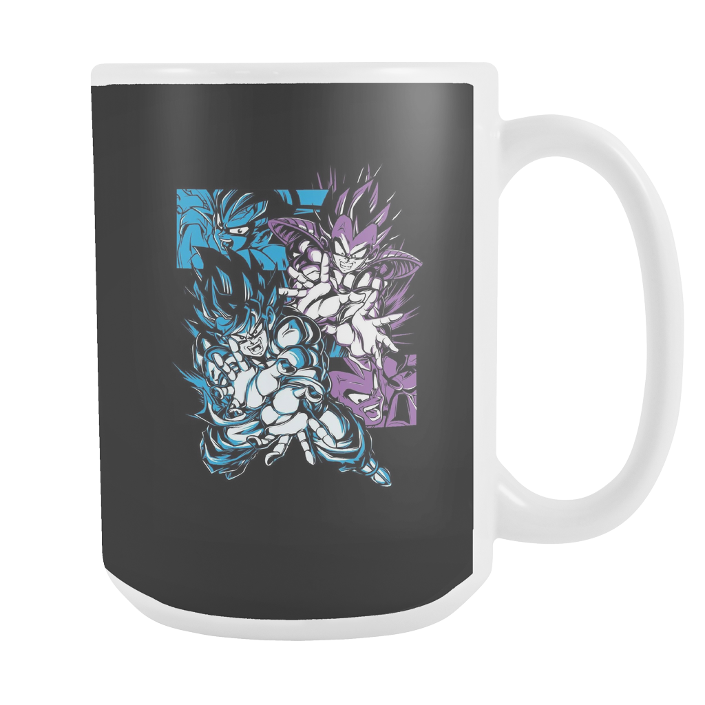 Super Saiyan Goku and Vegeta Fight 15oz Coffee Mug -TL00027M5