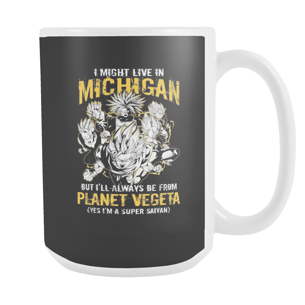 Super Saiyan I May Live in Michigan 15oz Coffee Mug - TL00067M5