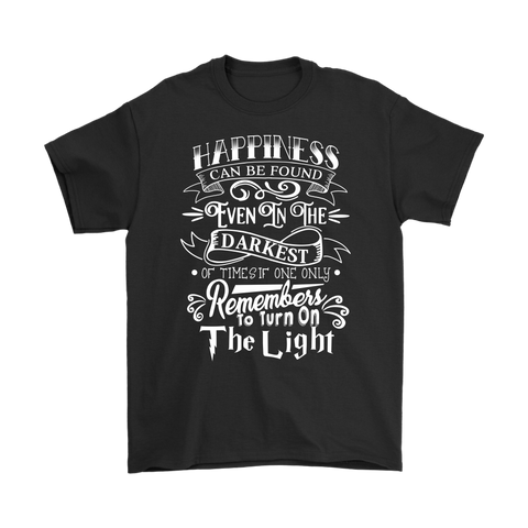Harry Potter- Hapiness can be found even in the darkess -Men Short Sleeve T Shirt - TL01694SS