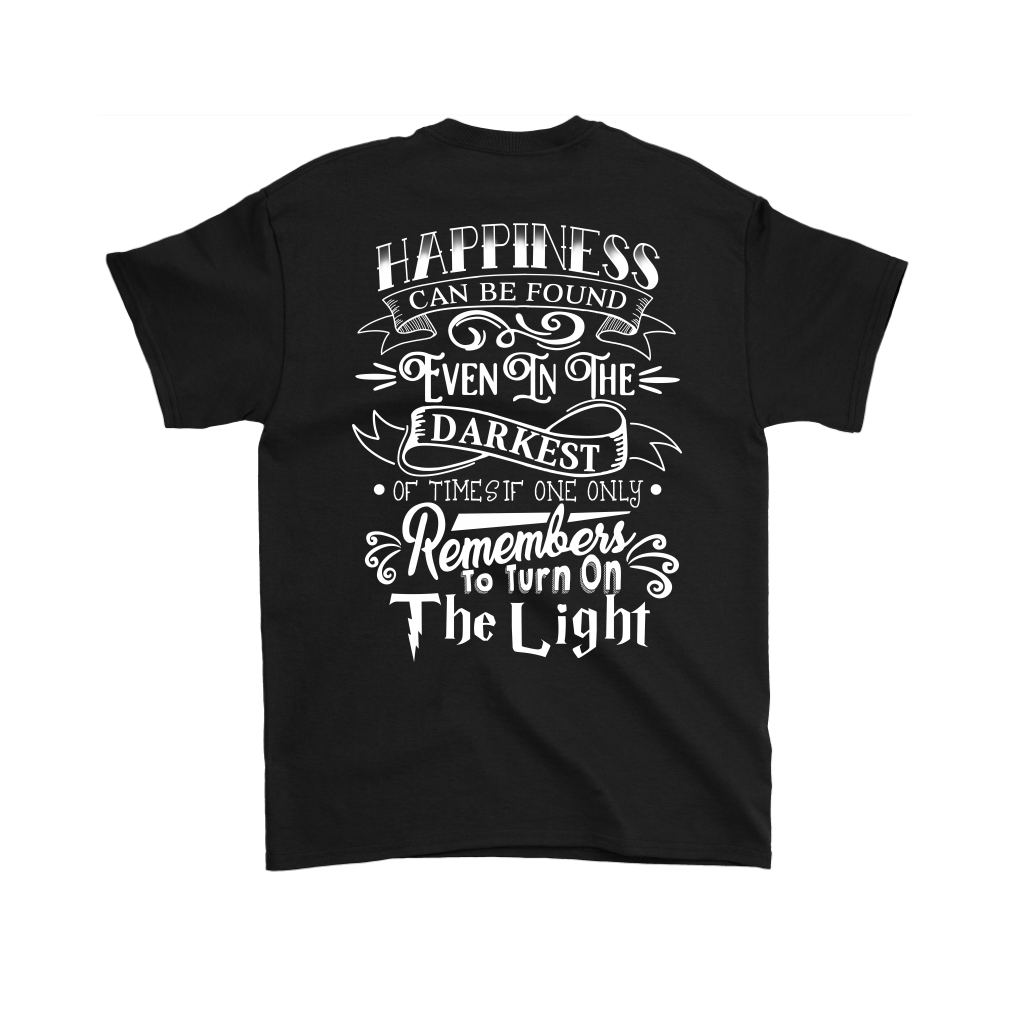 Harry Potter- Hapiness can be found even in the darkess -Men Short Sleeve T Shirt - TL01694SS - BACK