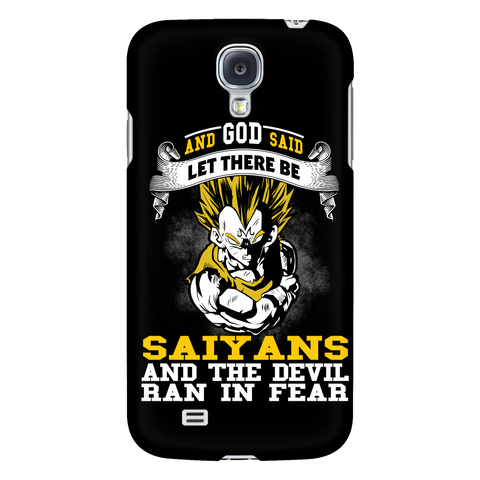 Super Saiyan - Saiyan and the devil ran in fear - Android Phone Case - TL01184AD