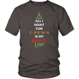 Harry Potter - All i want for christmas is my hogwards letter -Men Short Sleeve T Shirt - TL01721SS