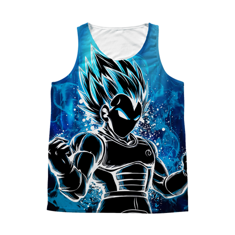 Super Saiyan - Super Saiyan Vegeta God Blue - 1 Sided 3D tank top t shirt Tank - RO00957AT