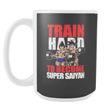 Super Saiyan Vegeta and Goku Gym Train Hard 15oz Coffee Mug - TL00442M5