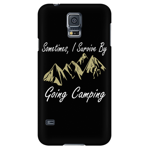 Camping - Sometimes i survice by going camping - Android Phone Case - TL01329AD