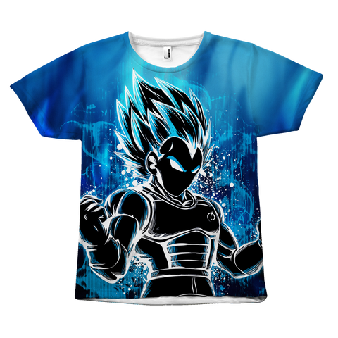 Super Saiyan - Super Saiyan Vegeta God Blue - All Over Print T Shirt - TL00957AO