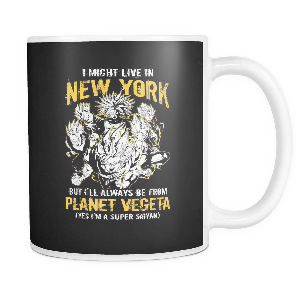 Super Saiyan I May Live in New York Group 11oz Coffee Mug - TL00062M1