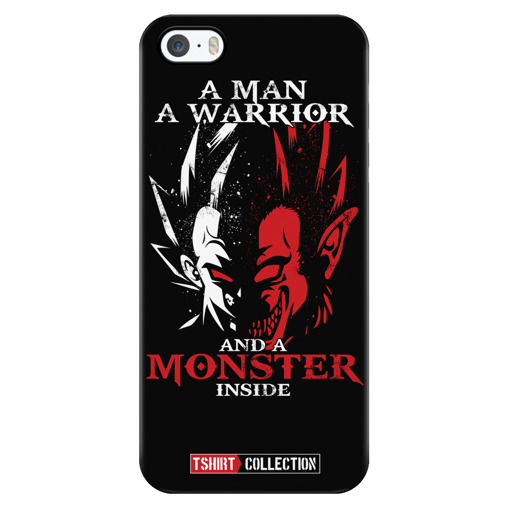 Super Saiyan Majin Vegeta Monster Inside iPhone 5, 5s, 6, 6s, 6 plus, 6s plus phone case - TL00282PC-BLACK