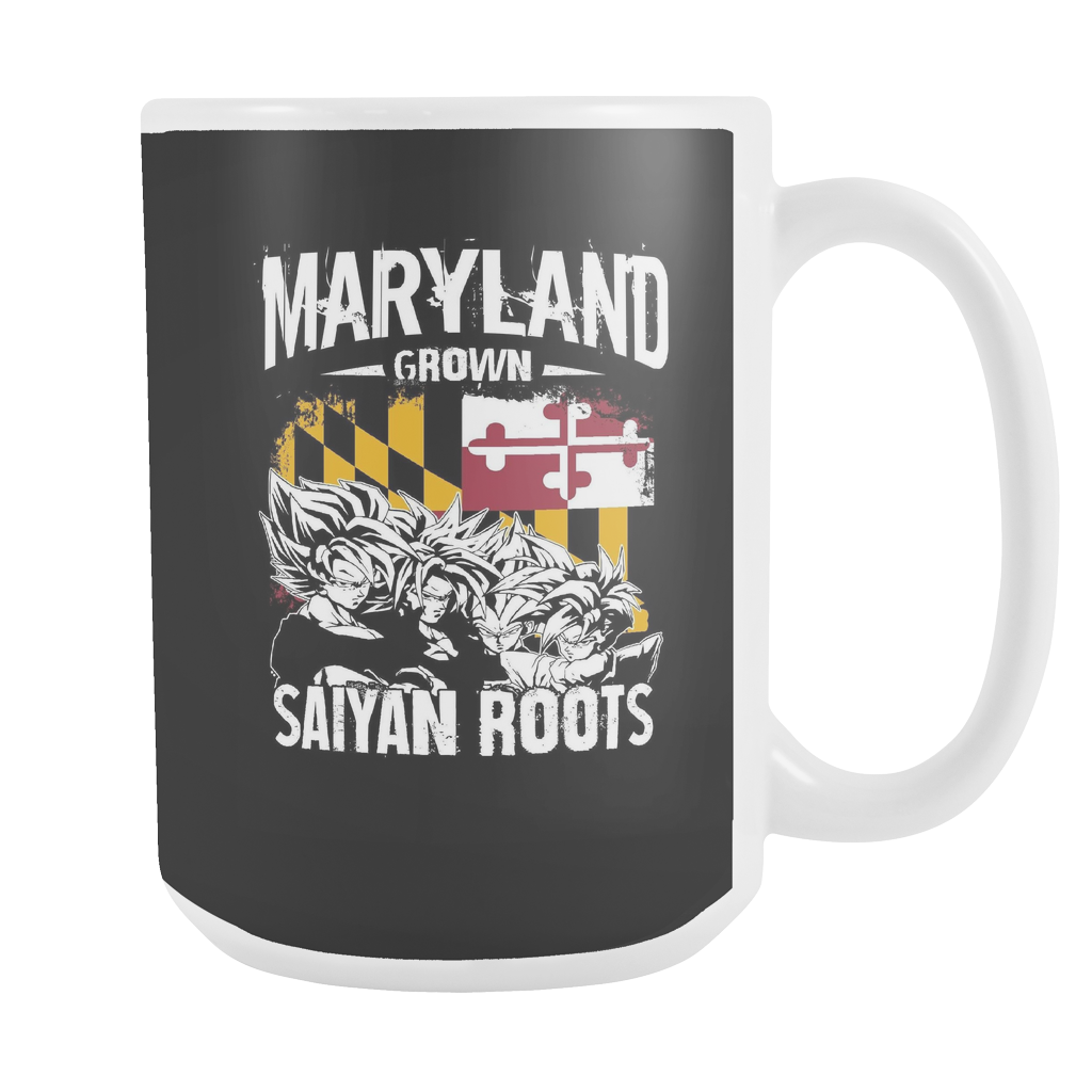 Super Saiyan Maryland Growns Saiyan Roots 15oz Coffee Mug - TL00160M5