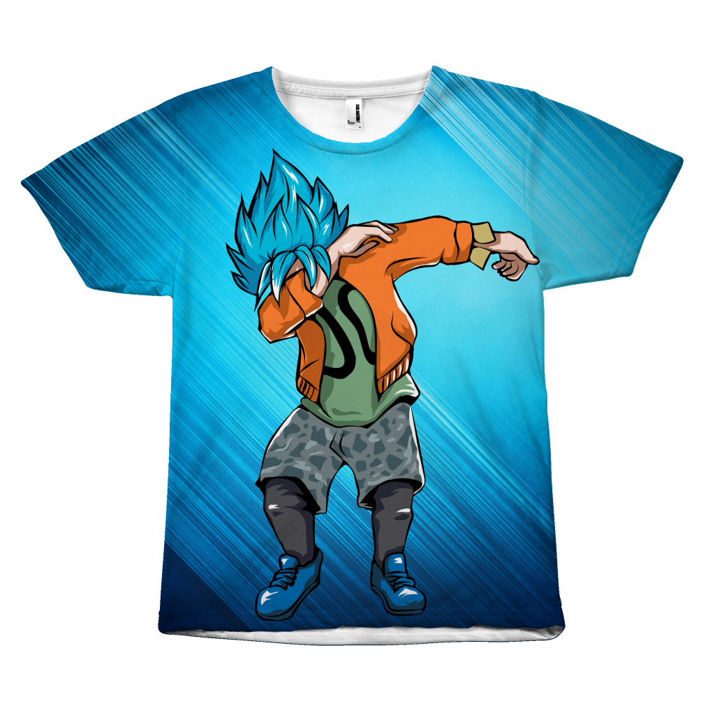 a502f0b250b Super Saiyan - Goku SSj God Blue DAB Dance - All Over Print T-Shirt -  TL00974AO