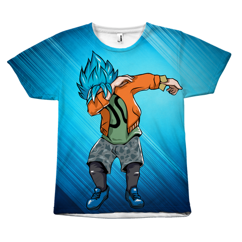 Super Saiyan - Goku SSj God Blue DAB Dance - All Over Print T-Shirt - TL00974AO
