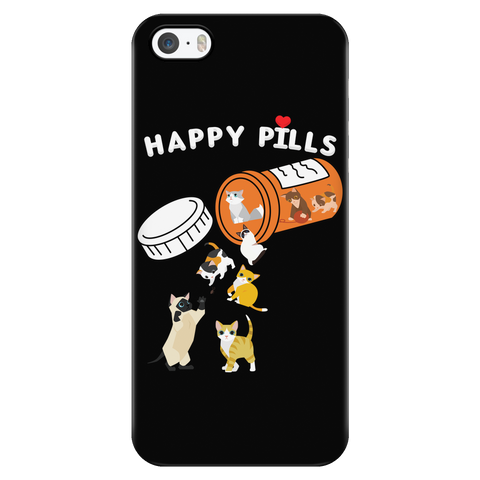 Cat - Happy Pills - Iphone Phone Case - TL01199PC