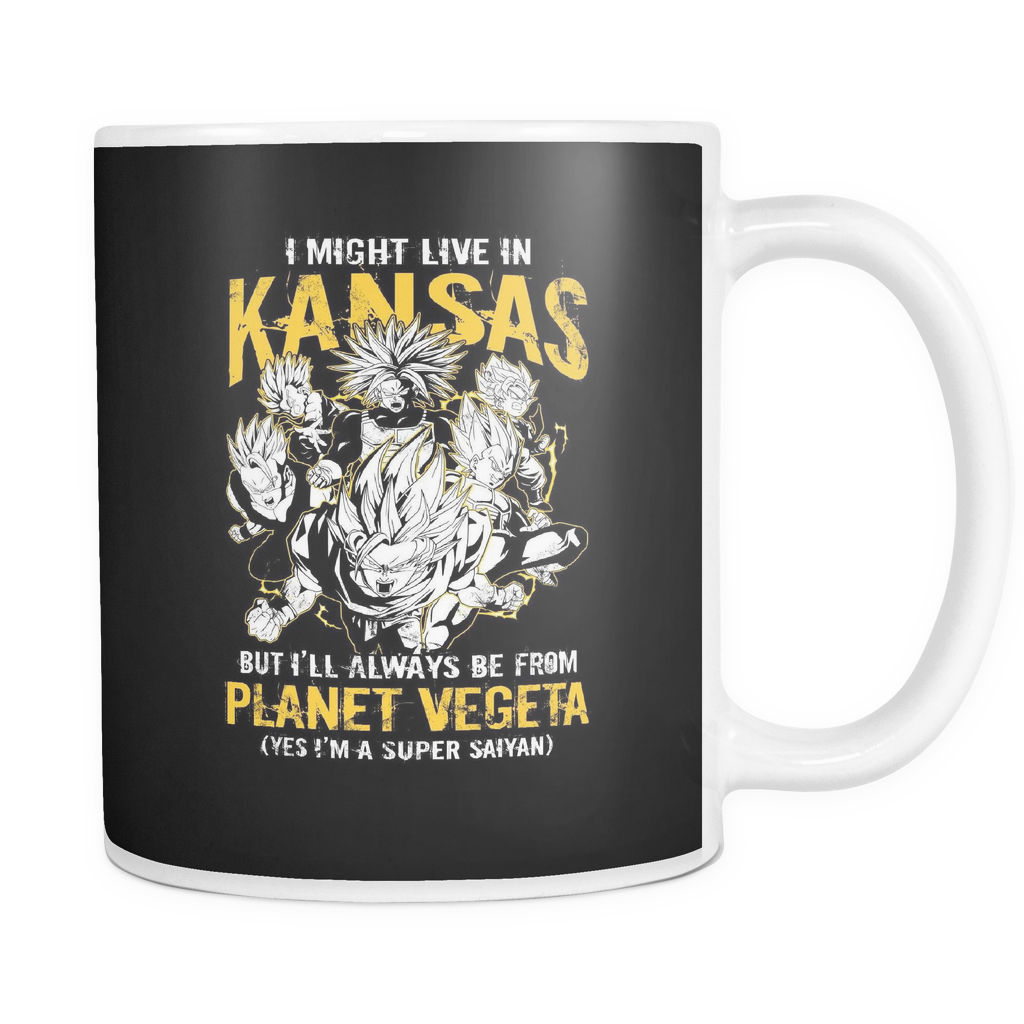 Super Saiyan I May Live in Kansas 11oz Coffee Mug - TL00080M1
