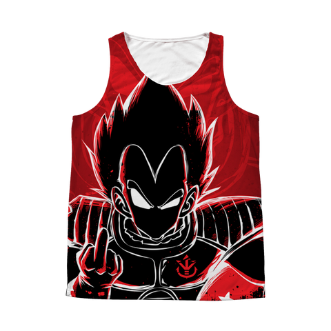 Super Saiyan - Vegeta attitude - 1 Sided 3D tank top t shirt Tank - TL00979AT