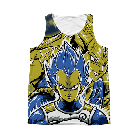 Super Saiyan - Vegeta SSJ Blue - All Over Print Tank T Shirt - TL01158AT