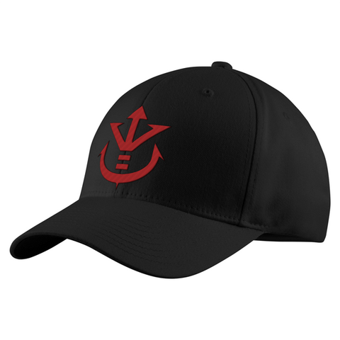 Super Saiyan Red Vegeta Crest Structured Twill Cap - PF00188TC - The Tshirt Collection - 1