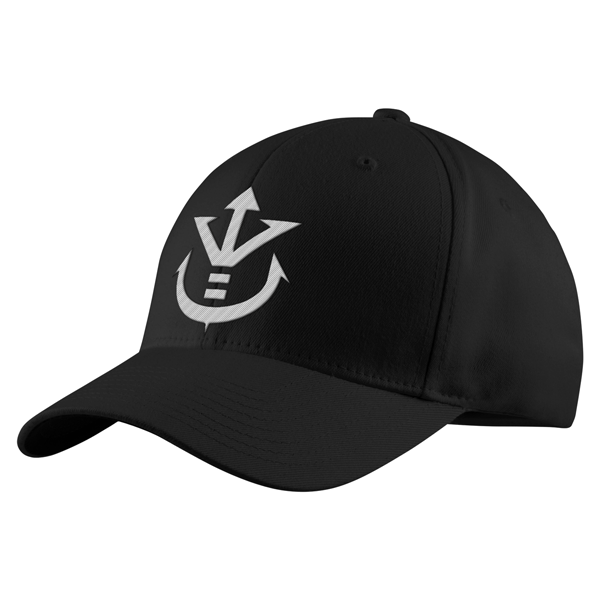 Super Saiyan White Vegeta Crest Structured Twill Cap - PF00190TC - The Tshirt Collection - 1