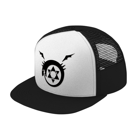 Fullmetal Alchemist Ouroboros Black Symbol Trucker Hat - PF00338TH - The TShirt Collection