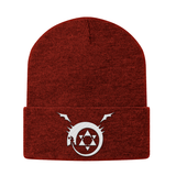 Fullmetal Alchemist Ouroboros White Symbol Beanie - PF00339BN - The TShirt Collection