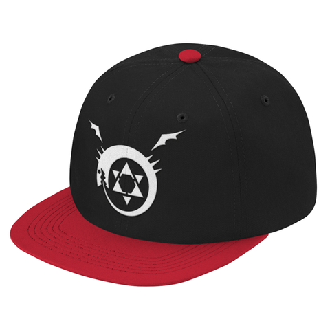 Fullmetal Alchemist Ouroboros White Symbol Snapback - PF00339SB - The TShirt Collection