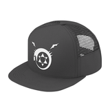 Fullmetal Alchemist Ouroboros WhiteTrucker Hat - PF00339TH - The TShirt Collection