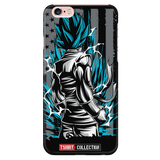 Super Saiyan American Goku God Blue iPhone Phone Case - TL00002PC-BLACK