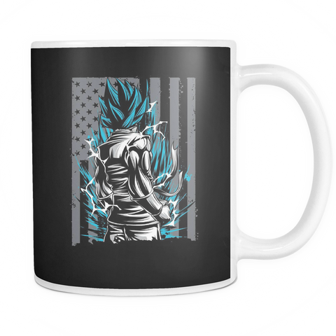 American Super Saiyan God Blue Goku 11oz Coffee Mug - TL00002M1 - The TShirt Collection